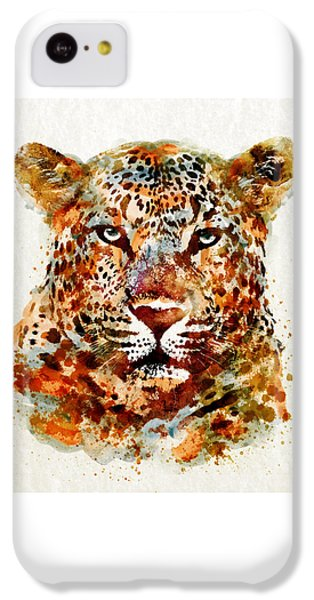Leopard Head Watercolor IPhone 5c Case by Marian Voicu