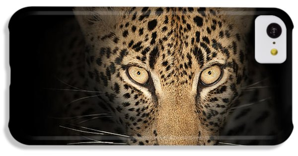 Cats iPhone 5c Case - Leopard In The Dark by Johan Swanepoel