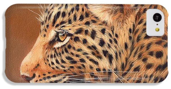 Leopard Portrait IPhone 5c Case by David Stribbling