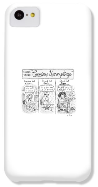 Coldplay iPhone 5c Case - Lesser-known 'conscious Uncouplings Three Panels by Roz Chast