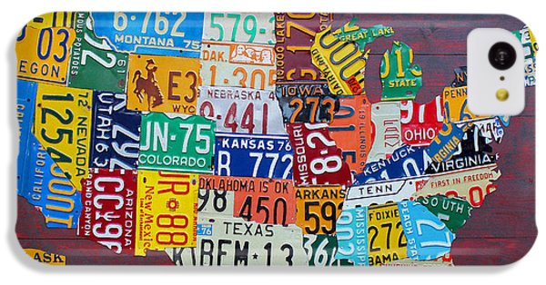 License Plate Map Of The United States IPhone 5c Case