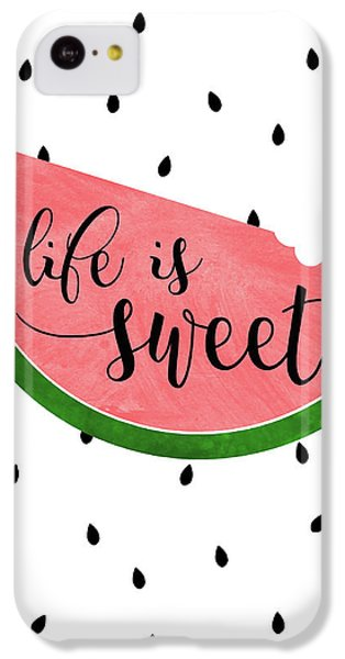 Life Is Sweet - Watermelon IPhone 5c Case