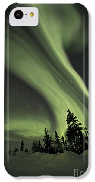 Light Swirls Over The Midnight Dome IPhone 5c Case by Priska Wettstein