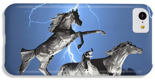Lightning At Horse World Bw Color Print IPhone 5c Case