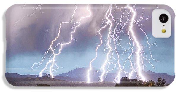 Lightning Striking Longs Peak Foothills 4c IPhone 5c Case