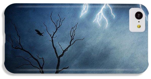 Raven iPhone 5c Case - Lightning Tree by Sebastien Del Grosso