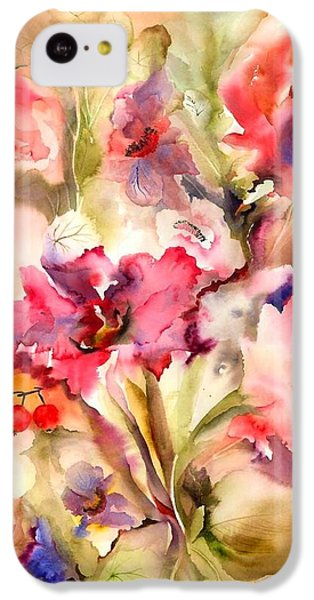 Lilies IPhone 5c Case by Neela Pushparaj
