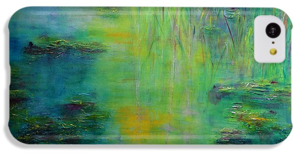 Lily Pond Tribute To Monet IPhone 5c Case by Claire Bull