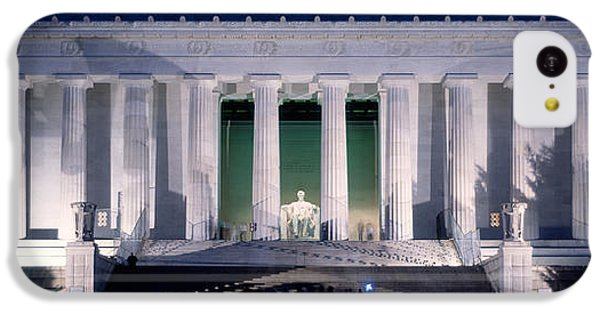 Lincoln Memorial iPhone 5c Case - Lincoln Memorial At Dusk, Washington by Panoramic Images