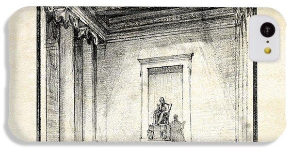 Lincoln Memorial Sketch IIi IPhone 5c Case by Gary Bodnar