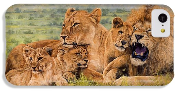 Lion Family IPhone 5c Case by David Stribbling