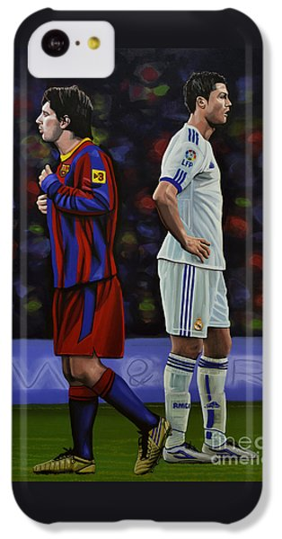 South America iPhone 5c Case - Lionel Messi And Cristiano Ronaldo by Paul Meijering