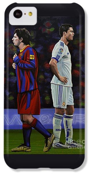 Lionel Messi And Cristiano Ronaldo IPhone 5c Case