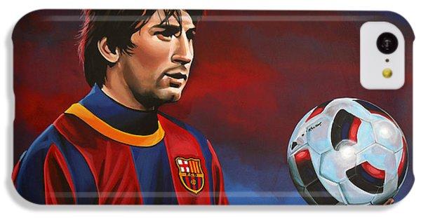 Lionel Messi 2 IPhone 5c Case by Paul Meijering