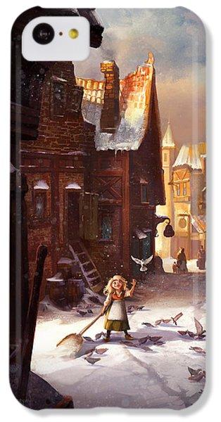 Pigeon iPhone 5c Case - Little Anna by Kristina Vardazaryan