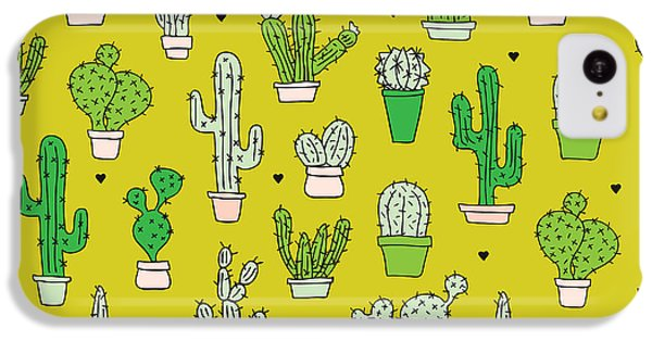Little Cactus Botanical Garden IPhone 5c Case by Maaike Boot