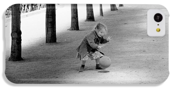 IPhone 5c Case featuring the photograph Little Girl With Ball Paris by Dave Beckerman