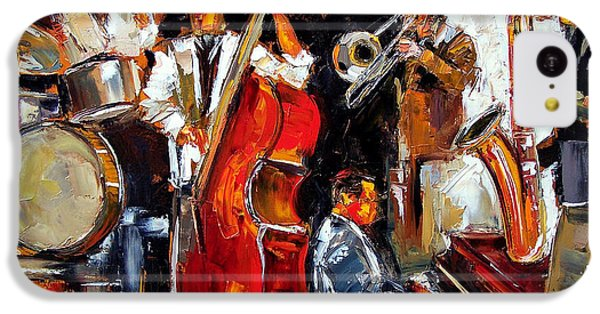 Drum iPhone 5c Case - Living Jazz by Debra Hurd