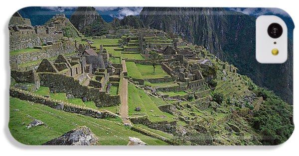 Llama At Machu Picchus Ancient Ruins IPhone 5c Case by Chris Caldicott