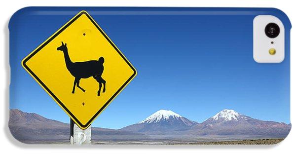 Llamas Crossing Sign IPhone 5c Case