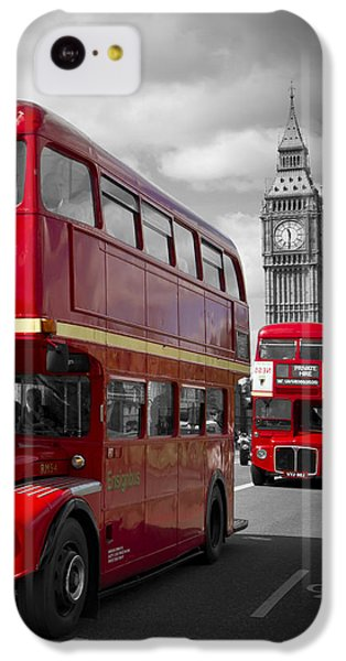 London Red Buses On Westminster Bridge IPhone 5c Case
