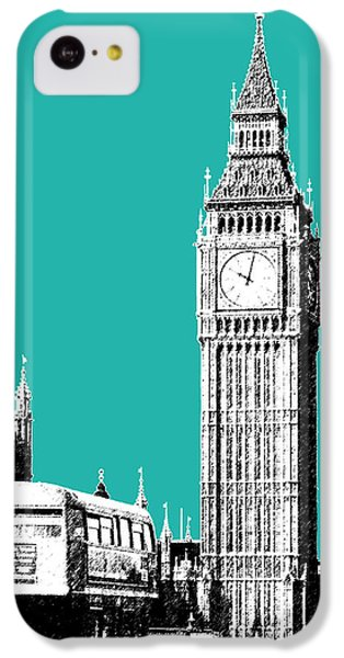 London Skyline Big Ben - Teal IPhone 5c Case by DB Artist