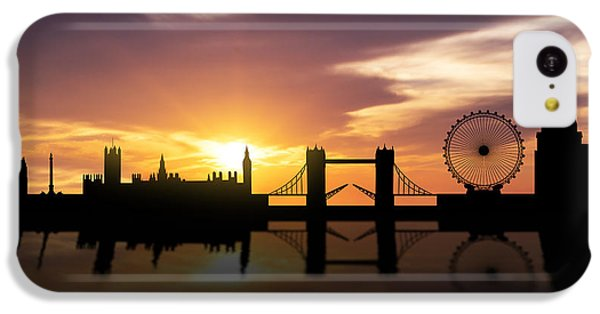 London Eye iPhone 5c Case - London Sunset Skyline  by Aged Pixel