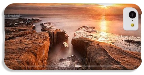 iPhone 5c Case - Long Exposure Sunset At A Rocky Reef In by Larry Marshall