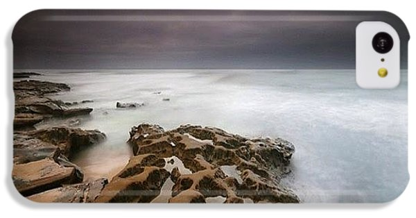 iPhone 5c Case - Long Exposure Sunset On A Dark Stormy by Larry Marshall