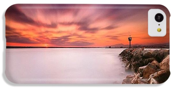Long Exposure Sunset Shot At A Rock IPhone 5c Case by Larry Marshall