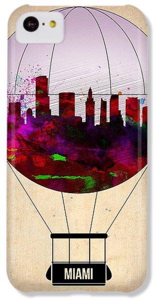 Miami iPhone 5c Case - Miami Air Balloon 1 by Naxart Studio
