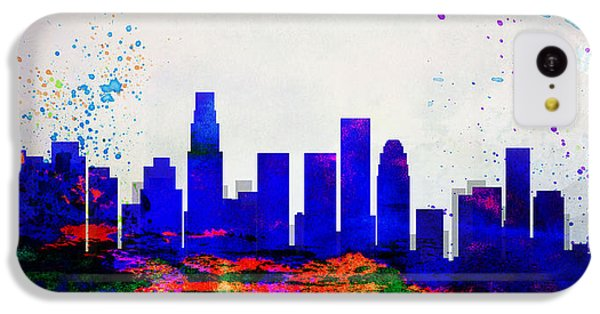 Los Angeles Skyline iPhone 5c Case - Los Angeles City Skyline by Naxart Studio