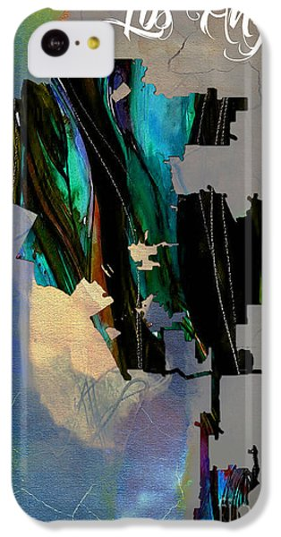 Los Angeles Map Watercolor IPhone 5c Case by Marvin Blaine