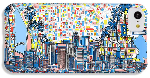 Los Angeles Skyline Abstract 3 IPhone 5c Case