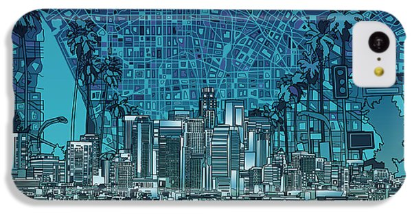 Los Angeles Skyline Abstract 5 IPhone 5c Case