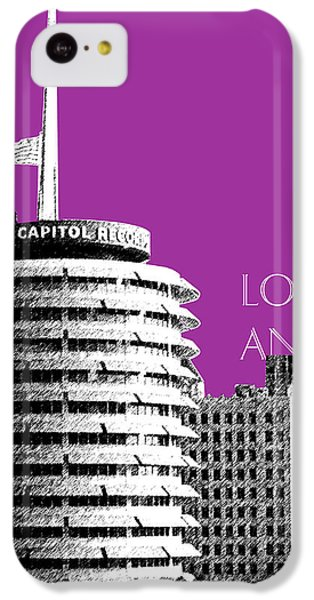 Los Angeles Skyline Capitol Records - Plum IPhone 5c Case by DB Artist