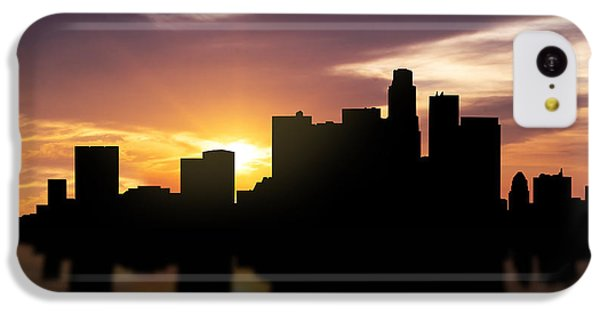Los Angeles Sunset Skyline  IPhone 5c Case by Aged Pixel