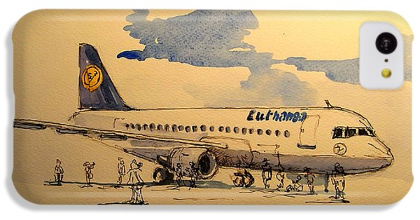Lufthansa Plane IPhone 5c Case by Juan  Bosco