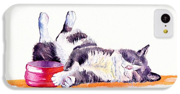 Cat iPhone 5c Case - Lunch Break by Debra Hall