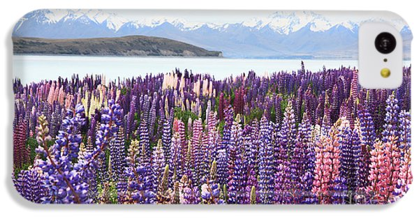 IPhone 5c Case featuring the photograph Lupins At Tekapo by Nareeta Martin