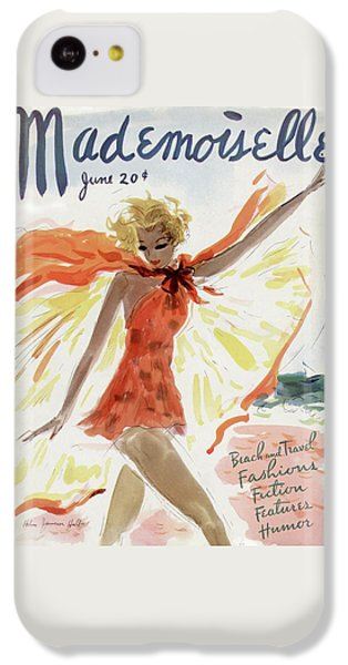 Mademoiselle Cover Featuring A Model At The Beach IPhone 5c Case