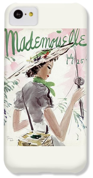 Mademoiselle Cover Featuring A Woman Holding IPhone 5c Case