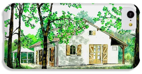 IPhone 5c Case featuring the painting Maison En Medoc by Marc Philippe Joly