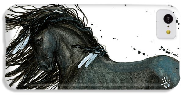 Majestic Friesian Horse 112 IPhone 5c Case by AmyLyn Bihrle