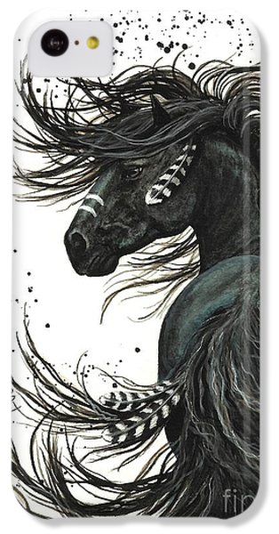 Portraits iPhone 5c Case - Majestic Spirit Horse  by AmyLyn Bihrle