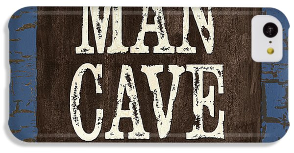 Man Cave Enter At Your Own Risk IPhone 5c Case by Debbie DeWitt