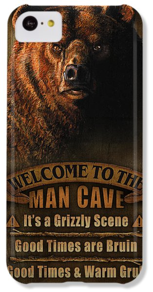 Pheasant iPhone 5c Case - Man Cave Grizzly by JQ Licensing