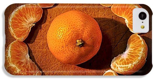 Orange iPhone 5c Case - Mandarin - Vignette by Kaye Menner