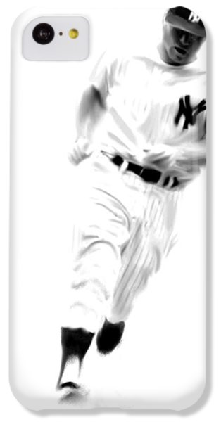 Mantles Gate  Mickey Mantle IPhone 5c Case by Iconic Images Art Gallery David Pucciarelli
