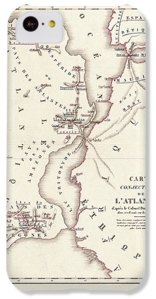 Gorgon iPhone 5c Case - Map Of Atlantis by Library Of Congress, Geography And Map Division